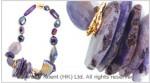 Multi Purple Agate Necklace