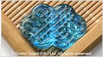 Glass Carved Infinity Knot