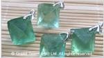 Green Fluorite Rough Octahedron Pendant