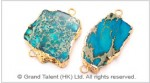 Blue Impression Jasper Pendant