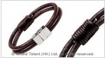 Men's Style Brown Double Leather Bracelet