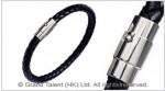 Men's Style Black Woven Leather Bracelet
