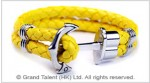 Men's Style Yellow Double Woven Leather Bracelet