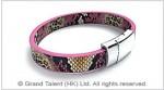 PU Snakeskin Leather Bracelet