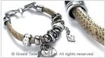 PU Snakeskin Leather Hanging Bracelet