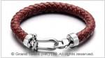 Horseshoe Braided Leather Bracelet