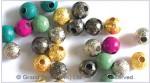 Sandblast Brass Spacer Beads