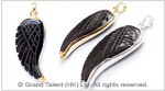 Black Onyx Carved Wing Pendant