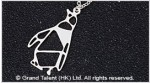 Origami Penguin Stainless Steel Charm Necklace