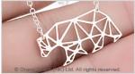 Origami Polar Bear Stainless Steel Charm Necklace