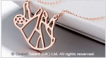 Origami Slot Stainless Steel Charm Necklace
