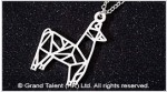 Origami Alpaca Stainless Steel Charm Necklace