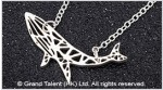 Origami Whale Stainless Steel Charm Necklace