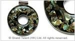 Paua Shell Mosaic Pendant