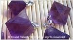 Purple Fluorite Rough Octahedron Pendant