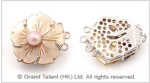 Shell Flower Clasp
