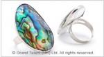 Abalone Paua Shell Ring