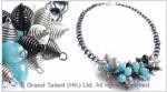 Blue Sponge Quartz Necklace