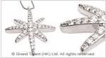 Star Cubic Zirconia Brass Charm Necklace