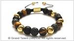 Tigereye & Matte Onyx Bracelet