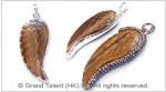 Tigereye Carved Wing Pendant