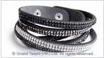 Crystal Rhinestones & Velvet Bracelet
