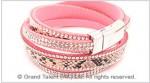 Leatherette & Crystals Bracelet