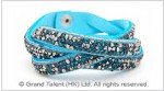 Crystals & Braided Velvet Bracelet