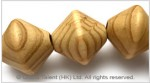 Natural Striped Wood Bead