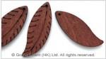 Carved Leaf Wood Bead Pendant