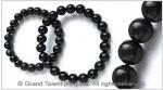 Natural Black Ebony Wood Bead Bracelet