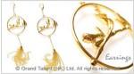 Brass Tassel Chain Jewelry Set