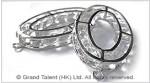 Oval Cage Crystal Diamond Pendant Charm
