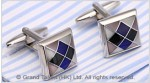Cat's Eye Checkered Brass Designer Cufflinks