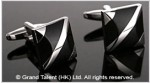 Black Onyx Brass Designer Cufflinks