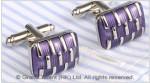 Purple Enamel Brass Designer Cufflinks