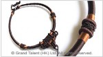 Brown Chinese Knot String Cord Necklace Choker