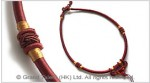 Brick Red Chinese Knot String Cord Necklace Choker