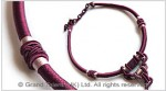 Burgundy Chinese Knot String Cord Necklace Choker