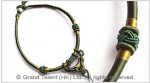 Olive Green Chinese Knot String Cord Necklace Choker