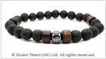 Men's Style Natural Lava Hematite Bracelet