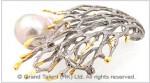 925 Sterling Silver Pearl Brooch