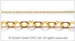 Brass small flat cable chain