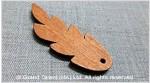 Carved Leaf Wood Bead